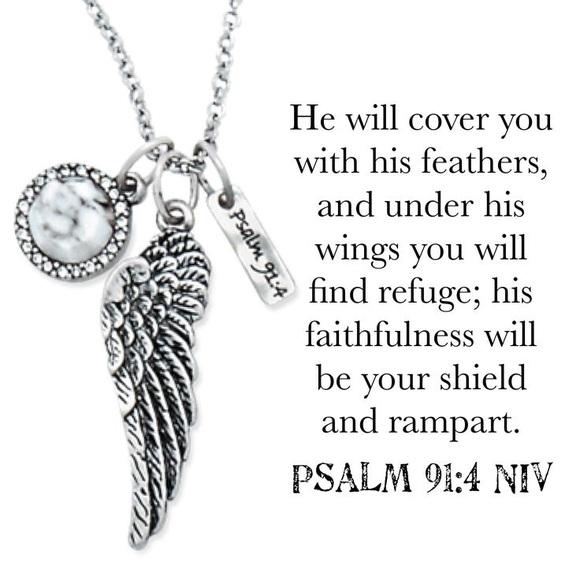 Psalm 91:4 Necklace NWT